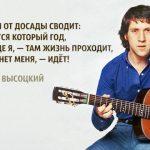 Высоцкий: «Мне скулы от досады сводит...»