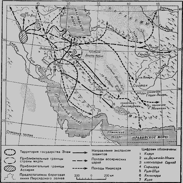 Экспансия эламитов на север и восток