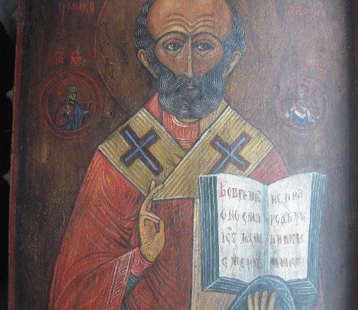 Икона «Явление иконы Николы Чудотворца на древе князю Дмитрию Иоанновичу перед Куликовской битвой»