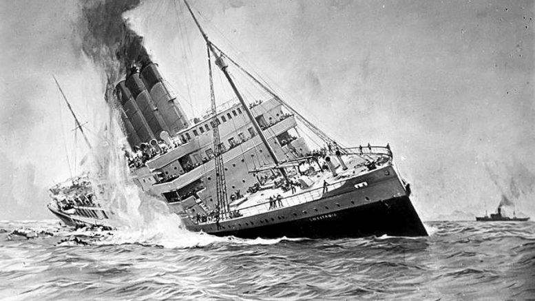 Торпедный удар лейтенанта Швигера, 1915 (Гибель «Лузитании»)
