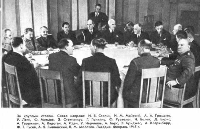 Вторая мировая война: Крымская конференция в 1945 г. Согласование планов окончательного разгрома германских и японских агрессоров