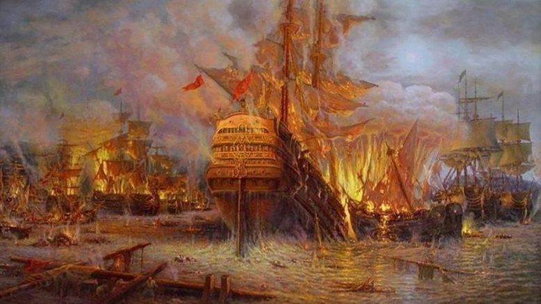 Чесменское морское сражение (1770 год)