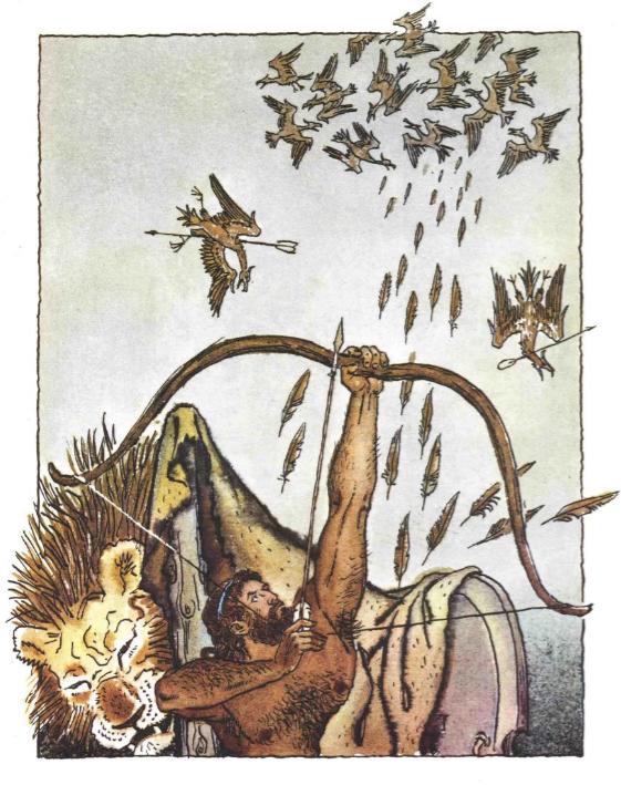 Геракл изгоняет Стимфальских птиц