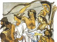 Богиня Гера поражает Геракла безумием