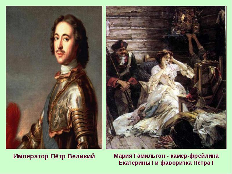 Мария Гамильтон — Пётр I