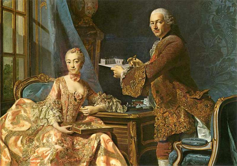 Жанна Антуанетта Пуассон — Людовик XV Французский