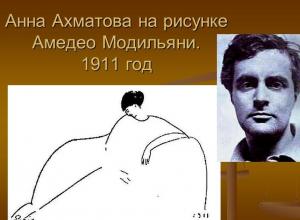 Анна Ахматова — Амедео Модильяни