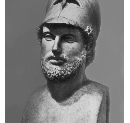 Перикл (ок. 490–429 гг. до н. э.) – политический деятель Древней Греции, стратег Афин