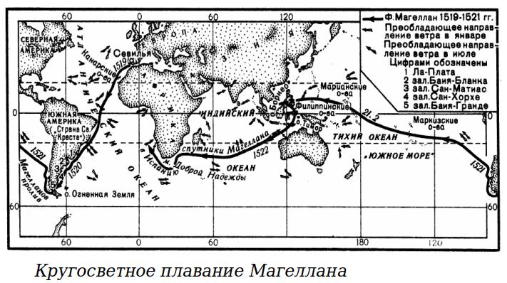 Вокруг земного шара (Магеллан, Элькано)