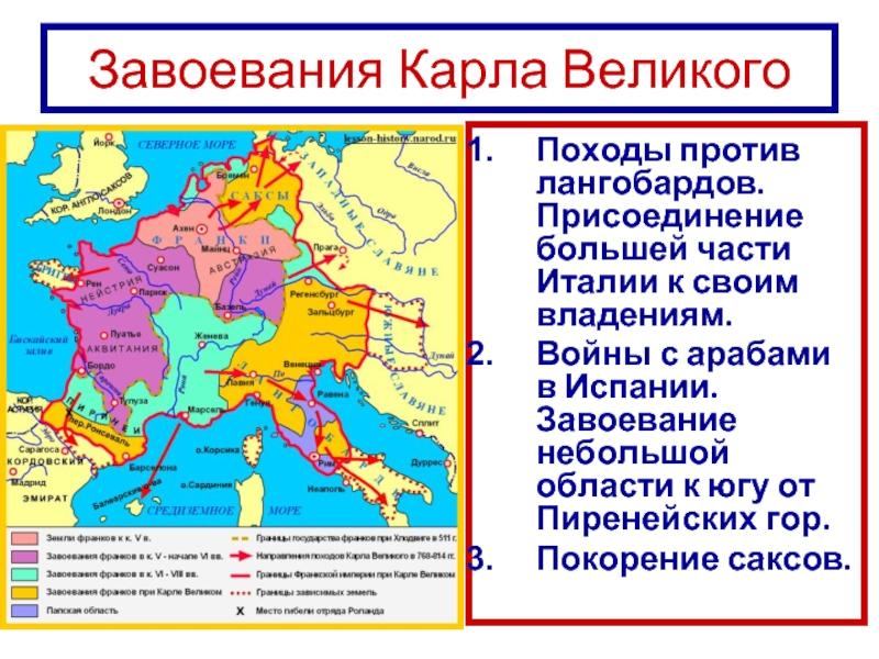 Войны Карла Великого (вторая половина VIII — начало IX века)